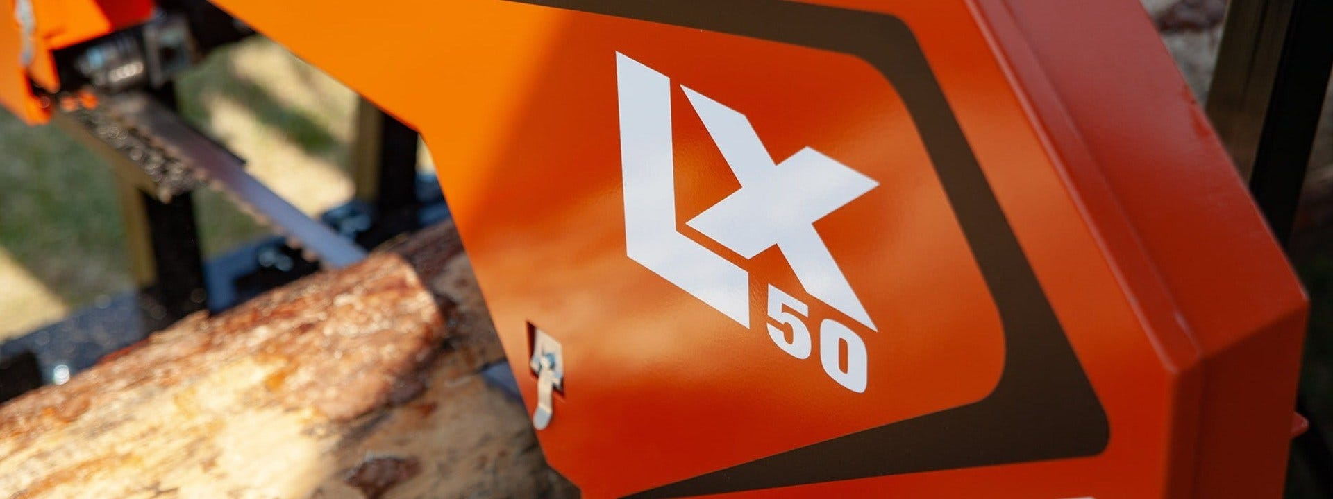 LX50 is the smallest and most inexpensive band saw available from Wood-Mizer