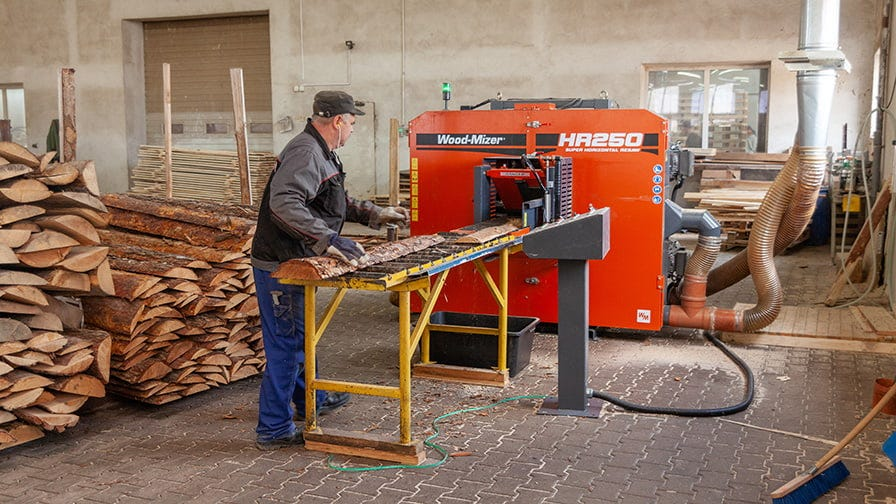 Wood-Mizer HR250 twin blade horizontal resaw