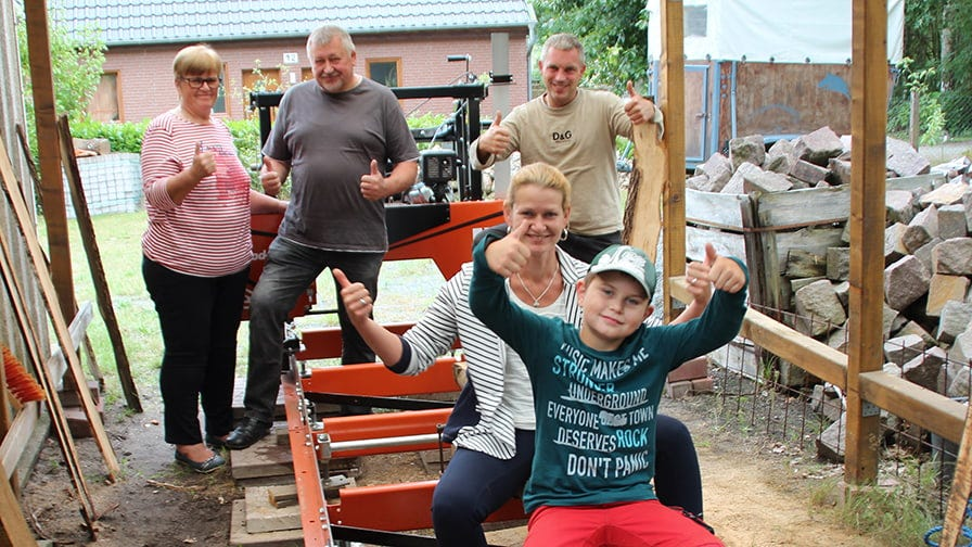 The Raddatz family from Germany and their LX50 sawmill