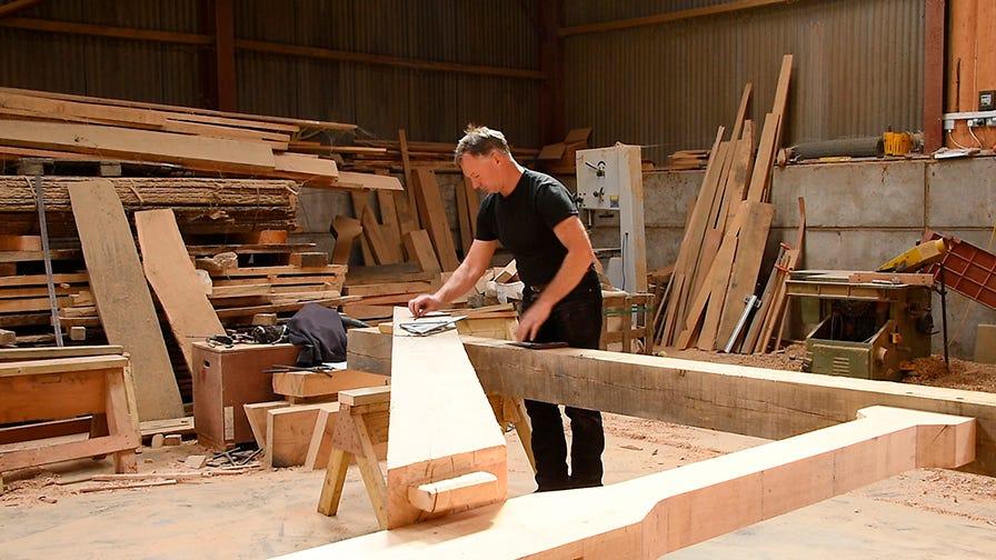 Paul Grainger at his carpentry shop