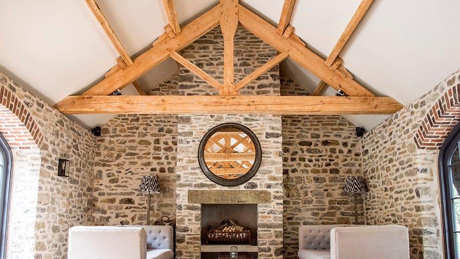 Timber framed roof made by Paul Grainger