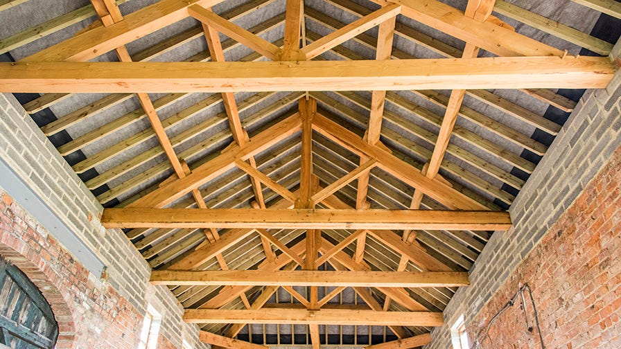 Timber framed roof design