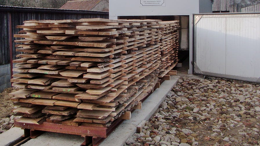 Dried timber