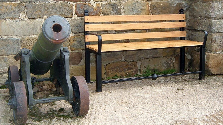 Project - a bench with a canon