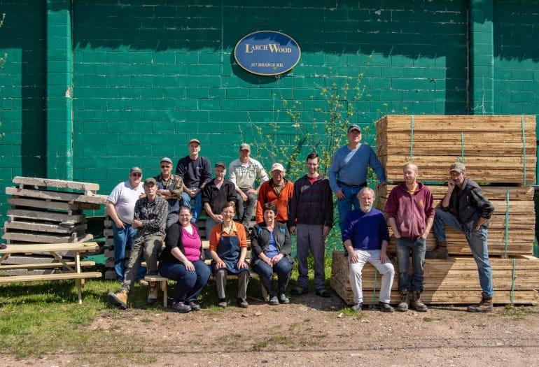 Larch Wood Canada team