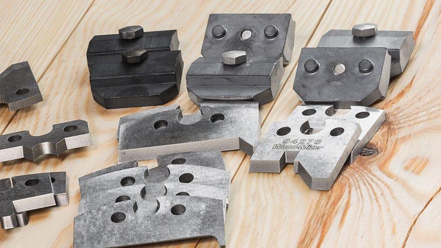 Side cutter knives and wedges wood-mizer planer moulders