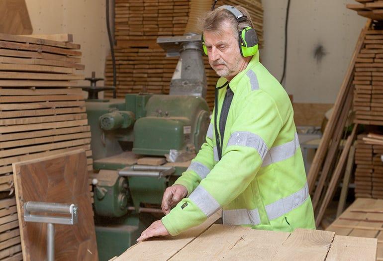 Nils Ohlin at MasterParkett workshop